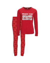 Avenue Ladies' Red Xmas Pyjamas