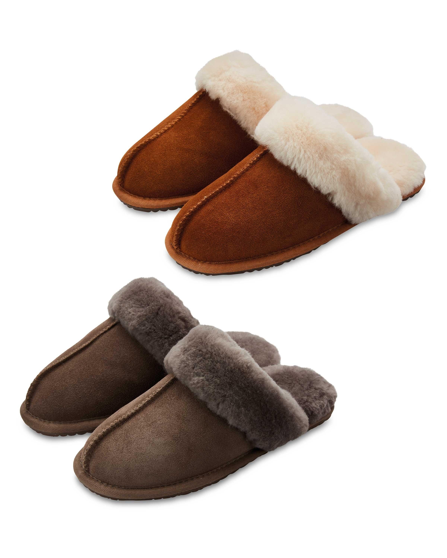 5c1a349035711 Avenue Ladies' Sheepskin Slippers - ALDI UK