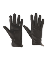 Avenue Ladies' Zip Leather Gloves