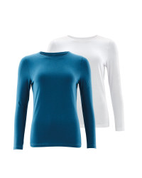 Avenue Long Sleeve T-Shirt 2 Pack - Blue/White