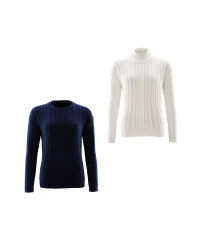 Avenue Ladies Cable Knit Jumper