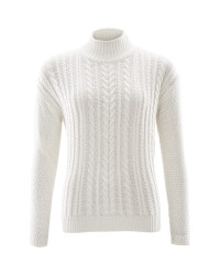 Avenue Ladies Cable Knit Jumper - Winter