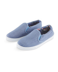 Avenue Ladies Denim Canvas Pumps