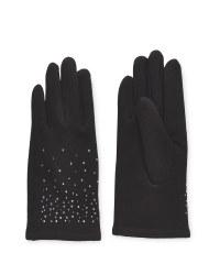 Avenue Ladies Diamante Gloves