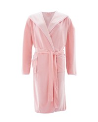 Avenue Ladies' Velvet Dressing Gown - Pink