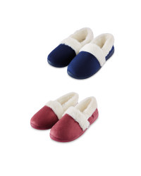 Avenue Ladies Fur Trim Slippers