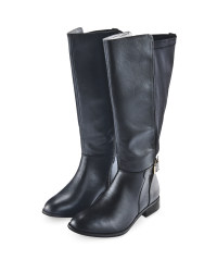 Avenue Ladies Knee High Boots - Black