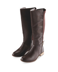 Avenue Ladies Knee High Boots - Brown