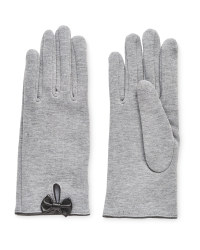 Avenue Ladies Knitted Bow Gloves