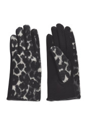 Avenue Ladies Leopard Print Gloves