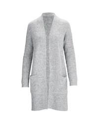 Avenue Ladies' Longline Cardigan - Grey