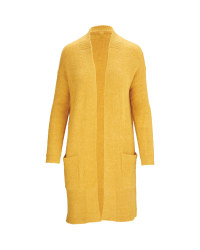 Avenue Ladies' Longline Cardigan - Ochre