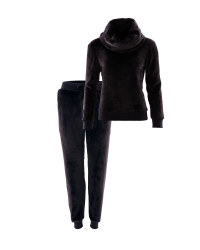 Avenue Ladies Loungewear Set - Black