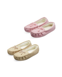 Avenue Ladies Moccasin Slippers