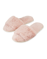 Avenue Avenue Ladies Plush Slider - Pink
