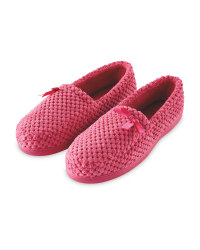 Avenue Ladies Pink Slippers