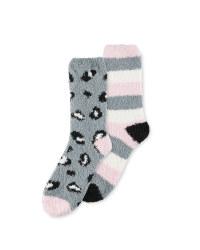 Avenue Leopard Lounge Socks