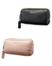 Avenue Long Leather Make Up Bag