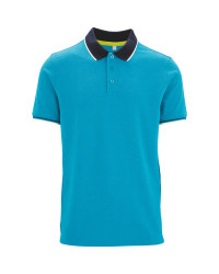 Avenue Men's Aqua Polo Shirt