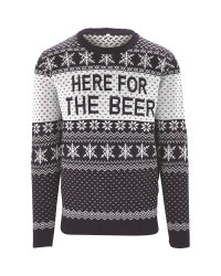 Avenue Mens Beer Christmas Jumper
