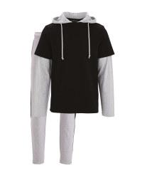 Avenue Men's Black Loungewear Set