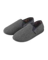 Avenue Men's Black Slippers