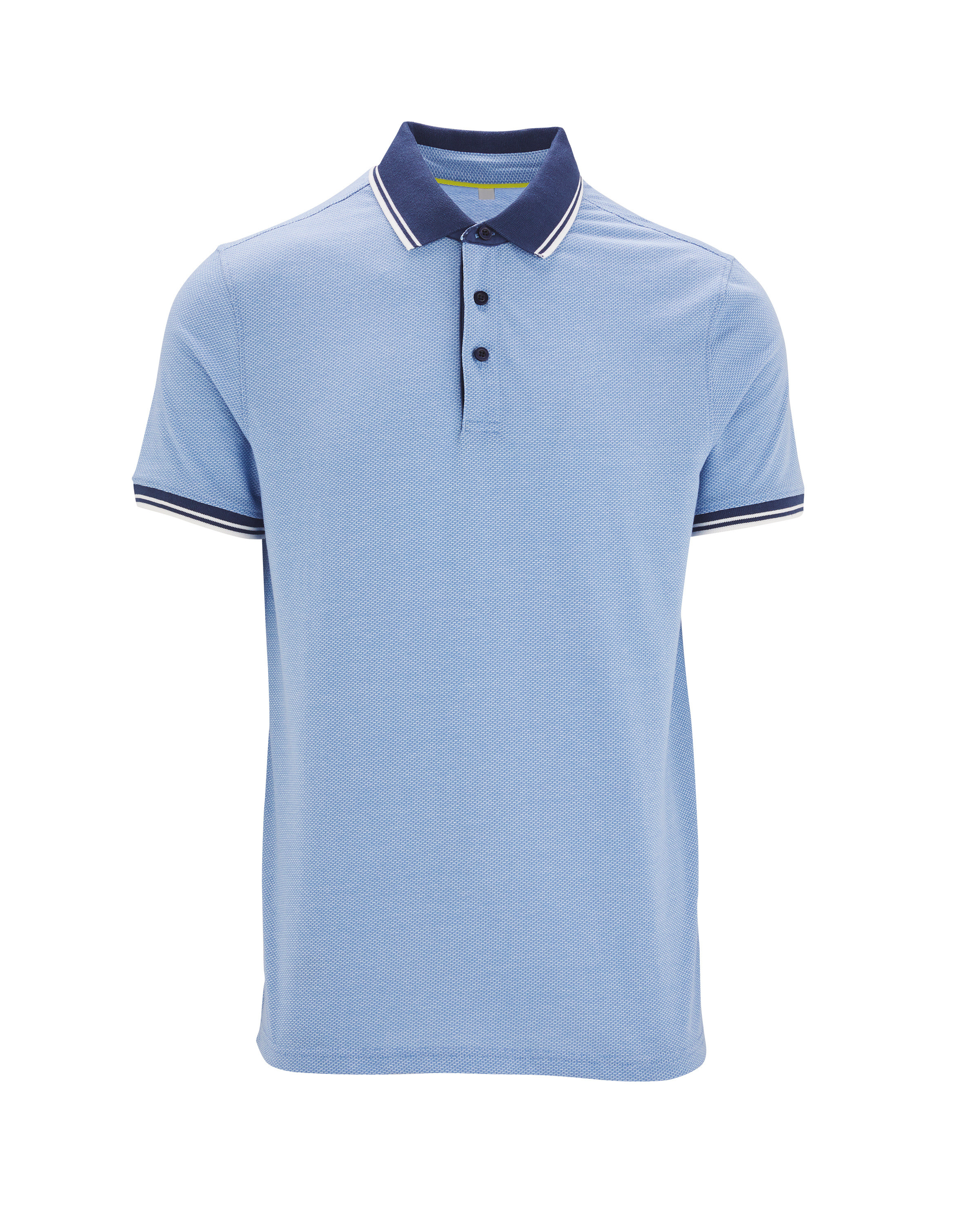 Avenue Men's Blue/White Polo Shirt
