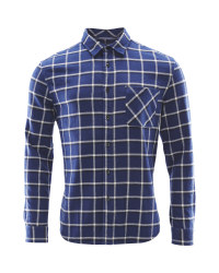 Avenue Men's Check Winter Shirt - Blue Check