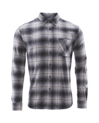 Avenue Men's Check Winter Shirt - Grey Check