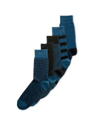 Avenue Men's Cotton Rich Teal Socks