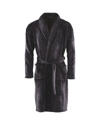 Avenue Men's Dressing Gown - Black