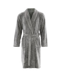 Avenue Men's Dressing Gown - Grey