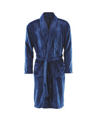 Avenue Men's Dressing Gown - Navy