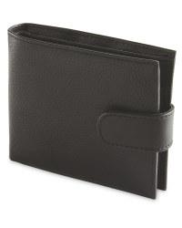 Avenue Men's Leather Wallet - Black