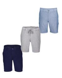 Avenue Men's Linen Blend Shorts