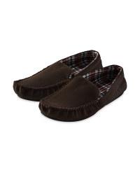 Avenue Men's Moccasin Slipper - Brown