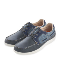 Avenue Men's Navy Comfort Shoes