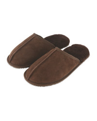 Avenue Men's Sheepskin Slippers - Chocolate