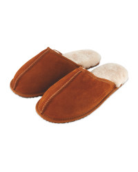 Avenue Men's Sheepskin Slippers - Tan