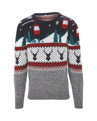 Avenue Mens Ski Christmas Jumper