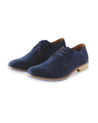 Avenue Men's Suedette Shoes - Navy