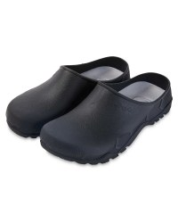 Avenue Mens Garden Clogs - Black