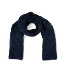 Avenue Navy Ladies Knitted Scarf