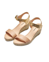 Avenue Pink Espadrille Wedge