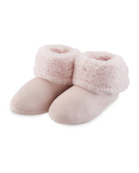 Avenue Pink Slipper Boots