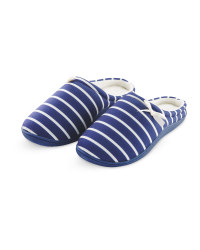 Avenue Ladies' Striped Slippers