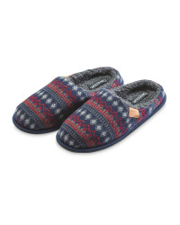 Avenue Winter Mule Slippers - Navy