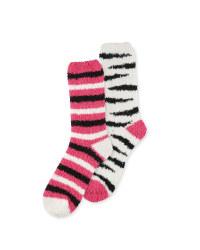 Avenue Zebra Lounge Socks