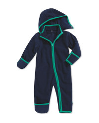 Baby Fleece All-In-One - Navy