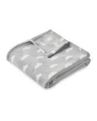 Baby Fleece Blanket Grey Clouds